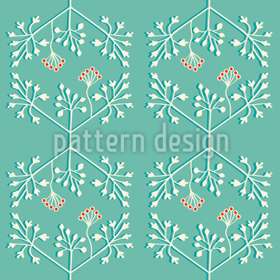 Delicate Plants Seamless Vector Pattern