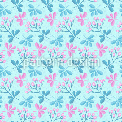 Spring Branches Vector Pattern