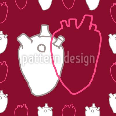 Herz An Herz Nahtloses Muster
