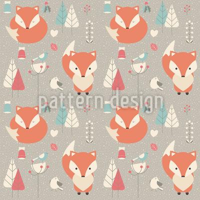 Baby Füchse Vektor Muster