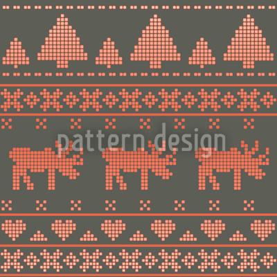 Norwegian Winter Seamless Vector Pattern Design