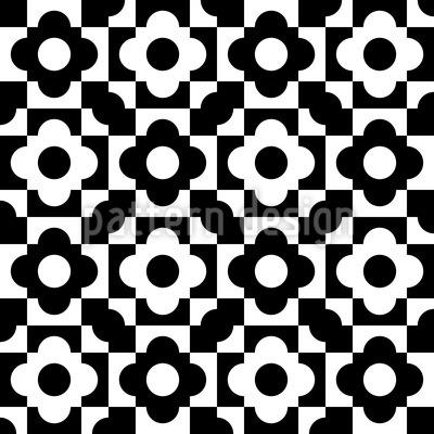 Geometrische Blumen Formen Muster Design