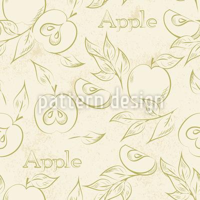 Italienische Äpfel Musterdesign