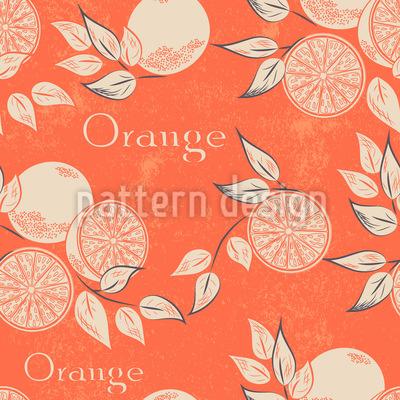 Südliche Orangen Nahtloses Vektormuster