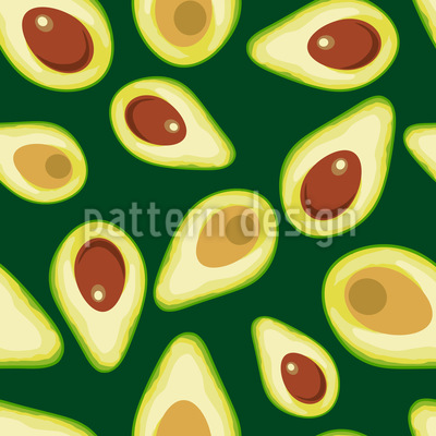 Avocado Seamless Vector Pattern Design
