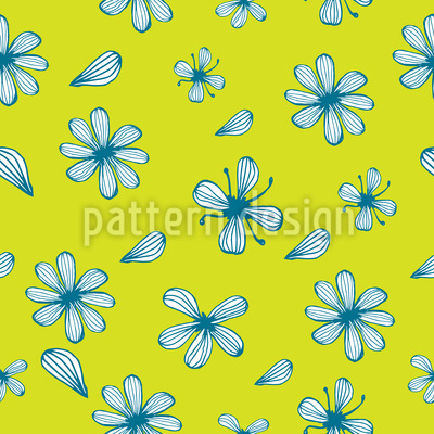 Petal Counting Seamless Vector Pattern Design