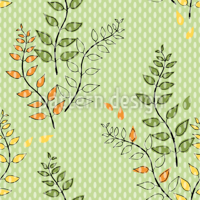 Green Branches Seamless Vector Pattern Design