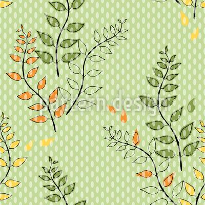 Grüne Zweige Nahtloses Vektormuster