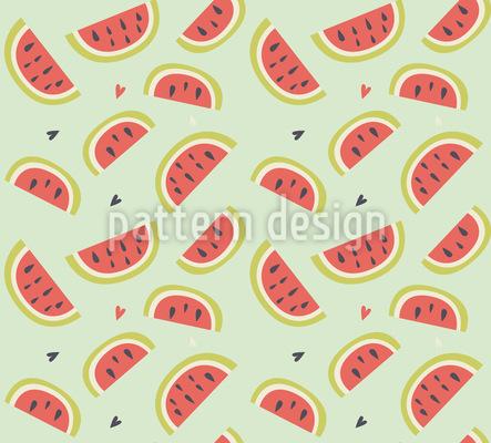 Ich Liebe Wassermelonen Rapportmuster