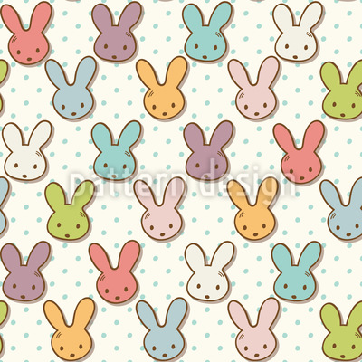 Cute Bunny Seamless Vector Pattern