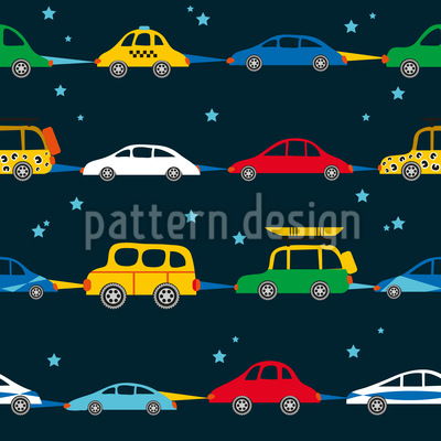 Travellers In The Night Seamless Vector Pattern Design