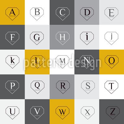 Buchstaben In Diamant Formen Rapportiertes Design
