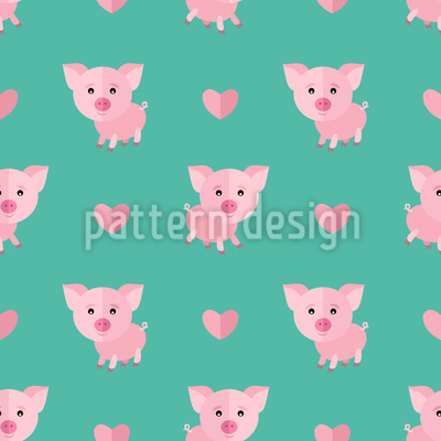 Cute Piglet Pattern Design
