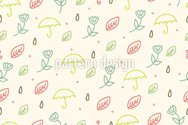 Frühlings Regen Rapportmuster