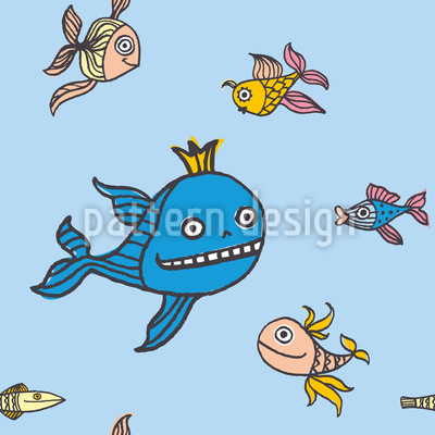 Fisch Märchen Muster Design