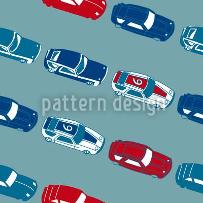 Matchbox Autos Nahtloses Vektormuster
