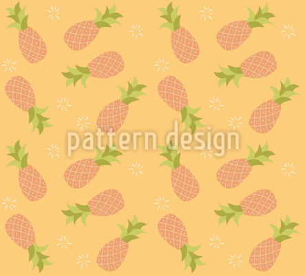Beware Of The Pineapples Seamless Vector Pattern