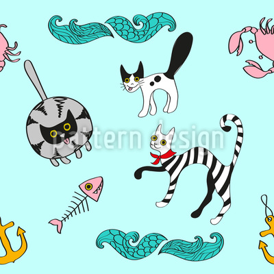 Hafen-Katzen Muster Design