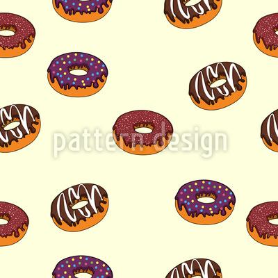 Köstliche Donuts Vektor Muster