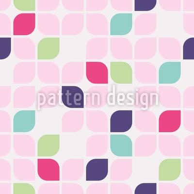 Blatt Geometrie Rapportiertes Design
