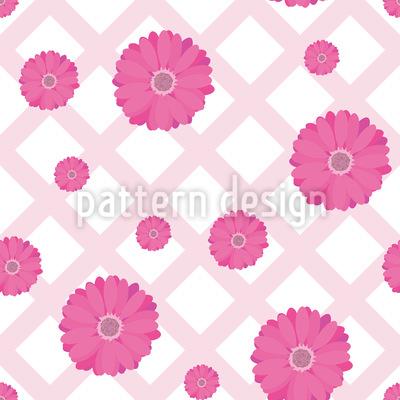 Gerbera On A Tablecloth Pattern Design