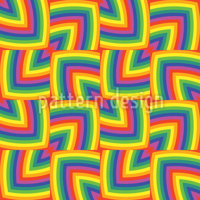 Geometric Rainbow Design Pattern