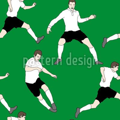 Auf Dem Fußballfeld Rapportiertes Design
