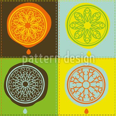 Citrus Patchwork Pattern Design
