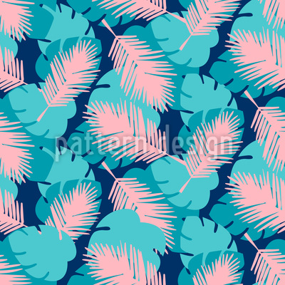 Palm And Monstera Leaves Design Pattern