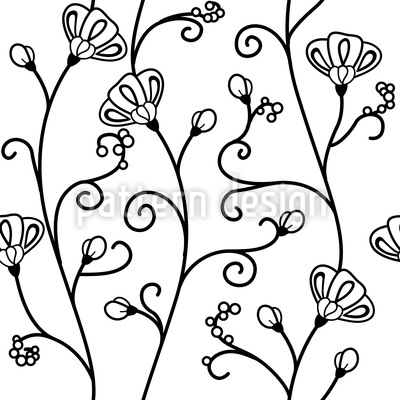 Ipomoea White Repeat Pattern