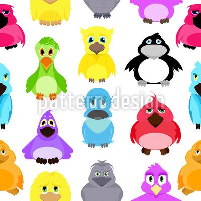 Das Vogel Treffen Muster Design
