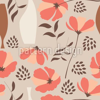 Mohnblumen für Vasen Muster Design