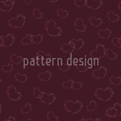 Grunge Hearts Pattern Design