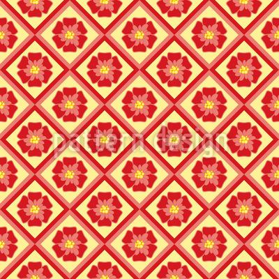 Floral Tiles Design Pattern