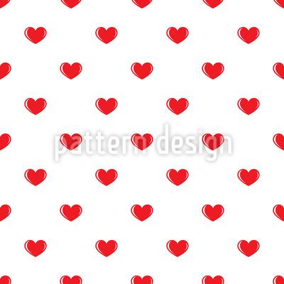 Kleine Herzen Nahtloses Vektormuster