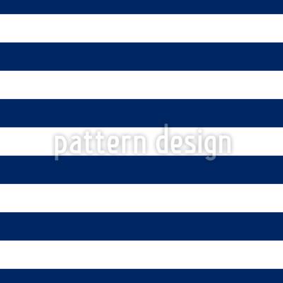Marine Streifen Rapportiertes Design
