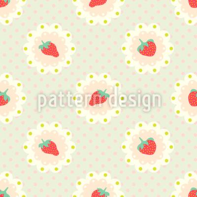 Retro-Erdbeeren Vektor Ornament
