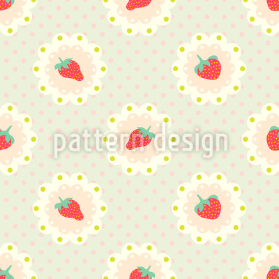 Retro Strawberry Vector Ornament