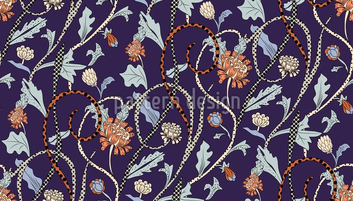 Leopard Blumen Musterdesign
