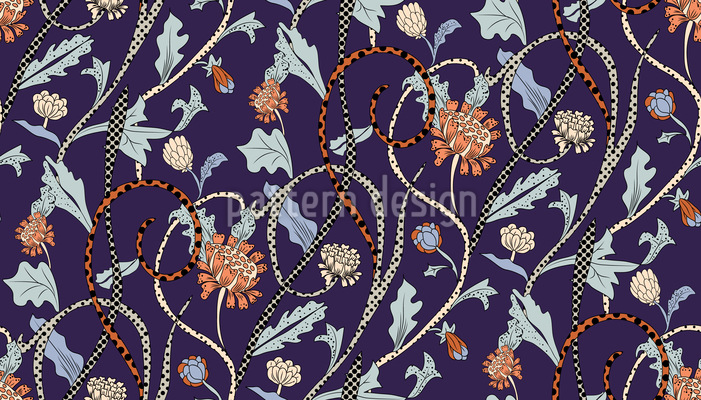Leopard Flowers Pattern Design