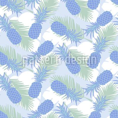 Ananas Und Palmenblätter Rapportmuster