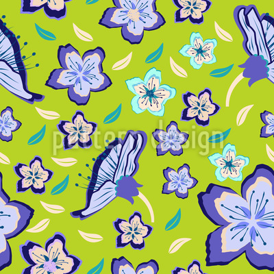 Fresh Flower Mix Pattern Design