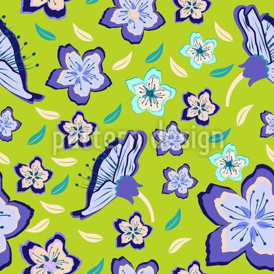 Frischer Blumenmix Muster Design