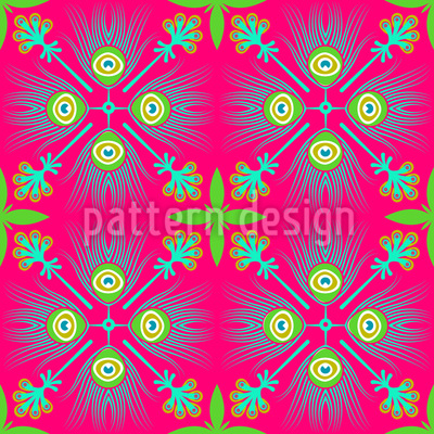 Talavera Peacock Pattern Design