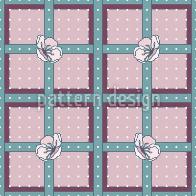 Obstblüten Karo Vektor Muster