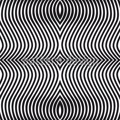 Op Art Cebra Estampado Vectorial Sin Costura