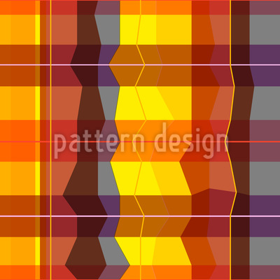 Indischer Karierter Sommer Muster Design