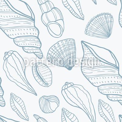 Muscheln Nahtloses Vektor Muster