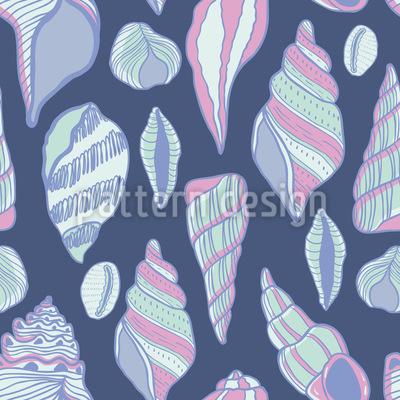 Cute Seashells Repeating Pattern