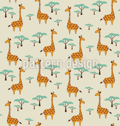 Niedliche Giraffen Muster Design